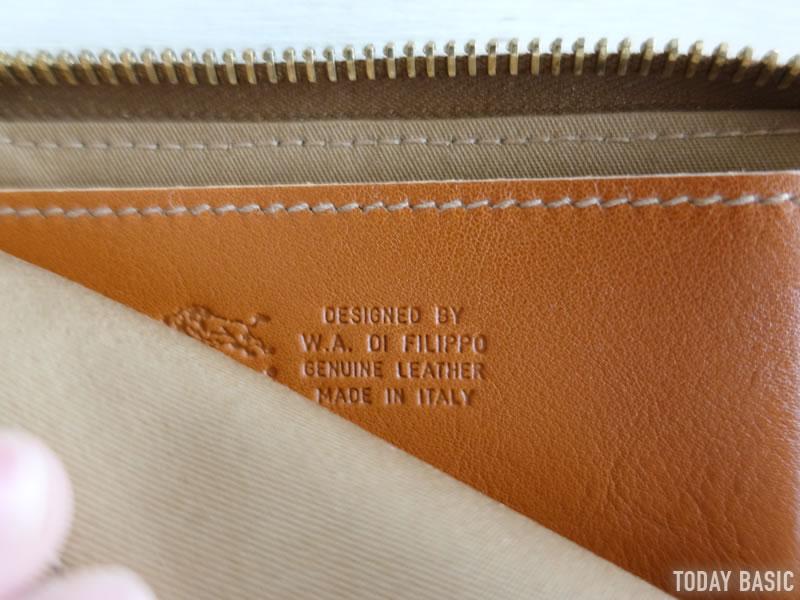 イルビゾンテのL字ファスナー財布の画像