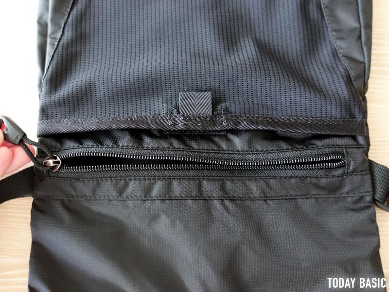 カリマーのトレックキャリーサコッシュのファスナーポケット