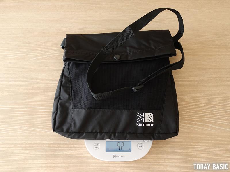 カリマーのトレックキャリーサコッシュの重さは52g