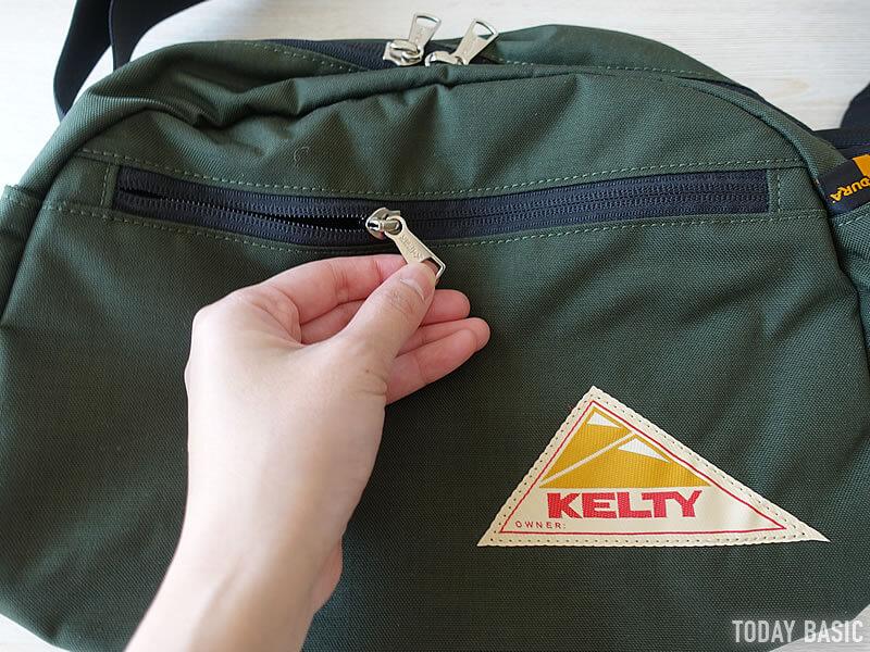 ケルティのラウンドトップショルダーバッグの前面ポケット画像