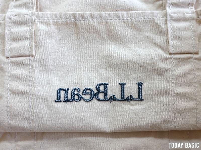 LLビーンのグローサリートートバッグのロゴ刺繍画像