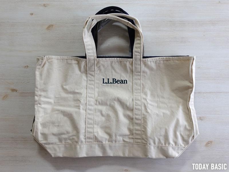 LLビーンのグローサリートートバッグのサイズ画像