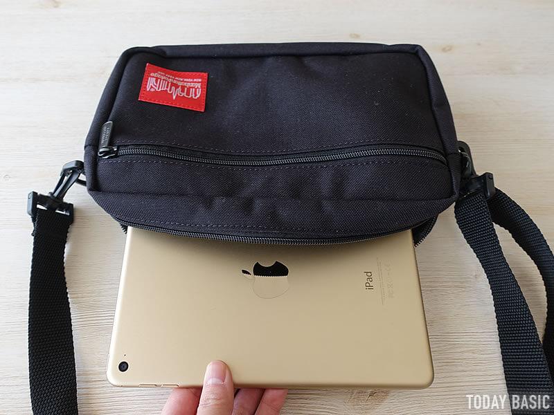 マンハッタンポーテージのジョガーバッグにiPadmini4を収納