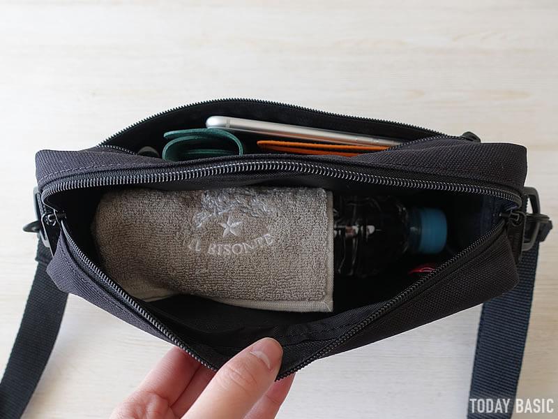 マンハッタンポーテージのジョガーバッグの収納ブログ画像
