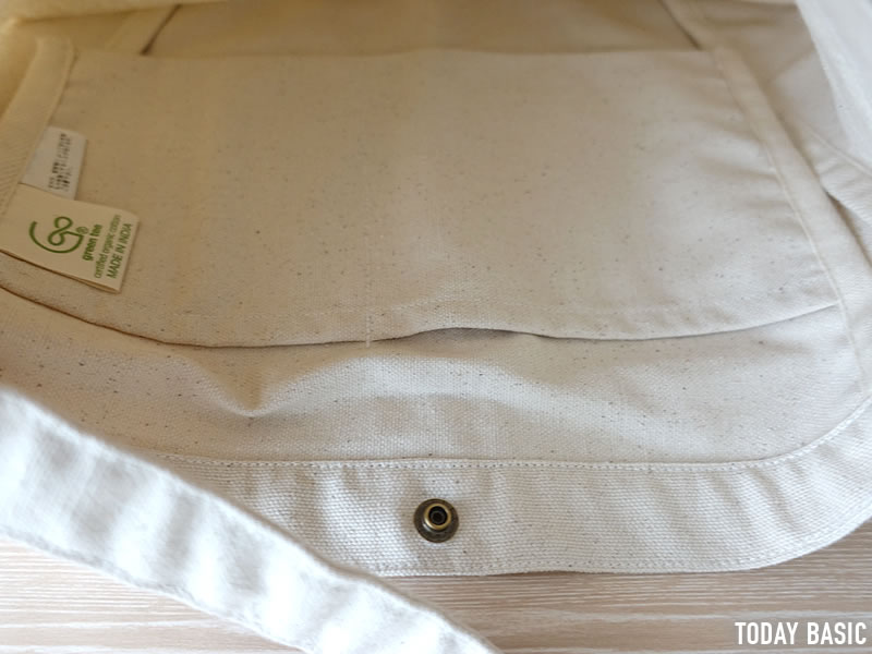 ザノースフェイスのミュゼットバッグの内側ポケットの画像
