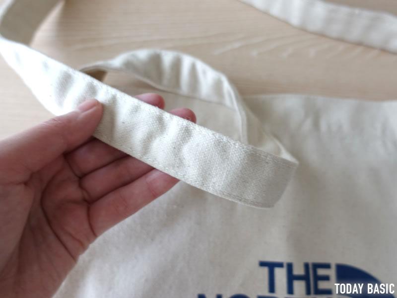 ザノースフェイスのミュゼットバッグの紐の画像