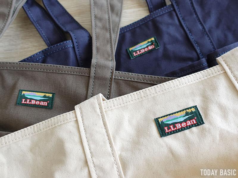 LLビーンのカタディン・キャンピング・トートバッグのロゴラベル