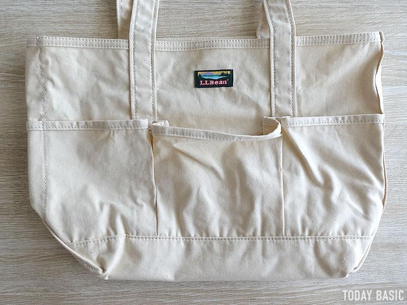 LLビーンのカタディン・キャンピング・トートバッグの前ポケット