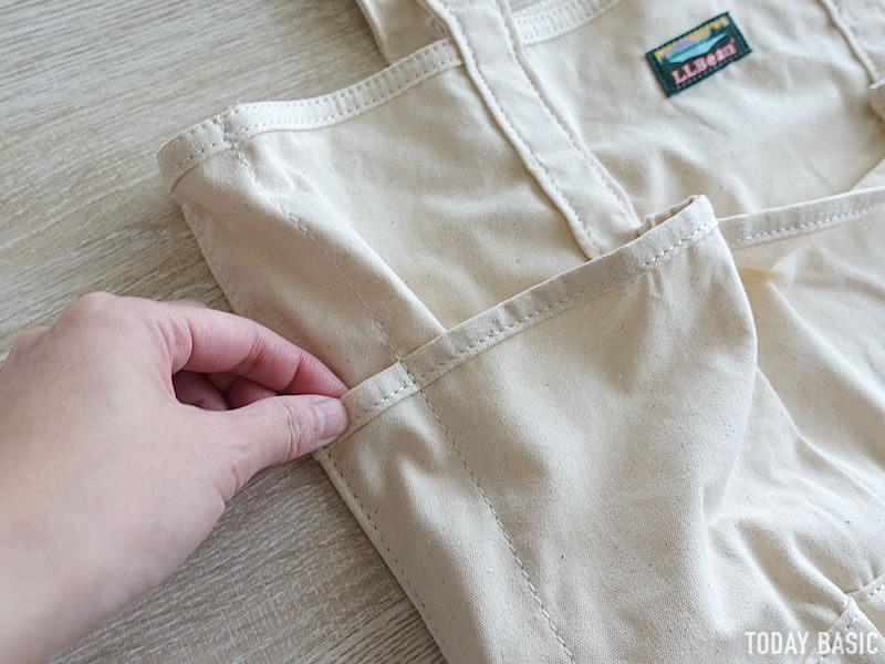 LLビーンのカタディン・キャンピング・トートバッグのペンポケット