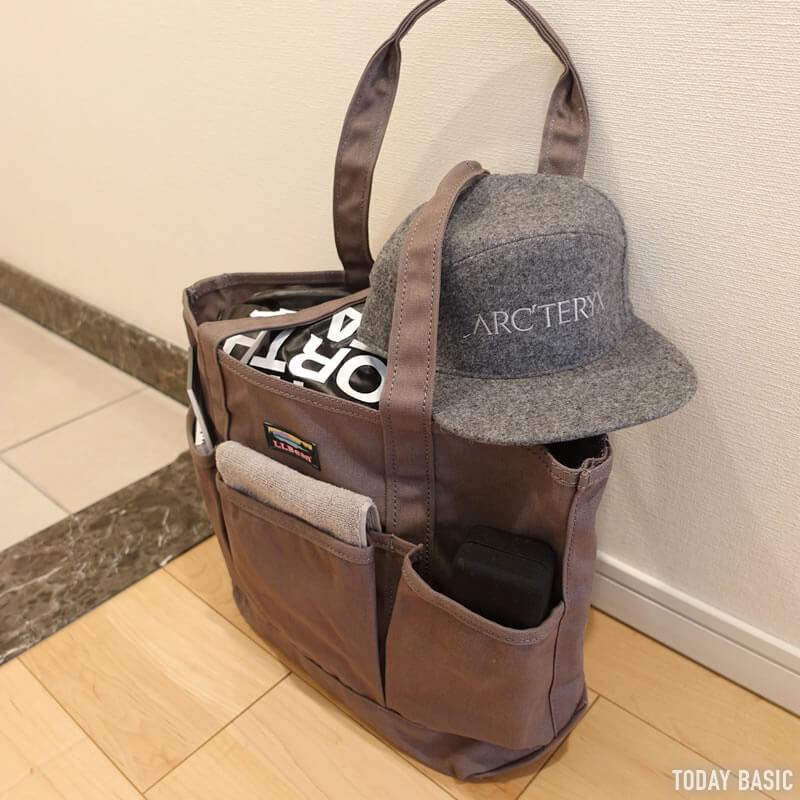 LLビーンのカタディン・キャンピング・トートバッグにメガネケースを収納