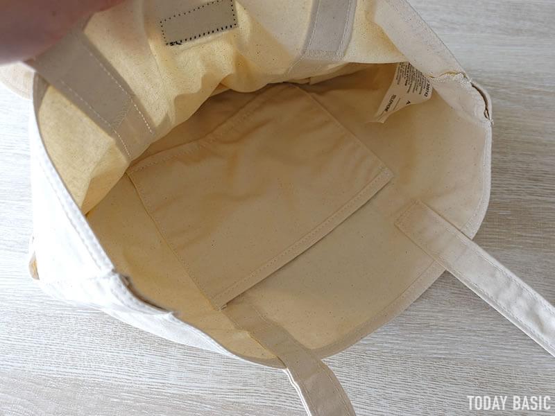 LLビーンのカタディン・キャンピング・トートバッグの内側ポケット画像