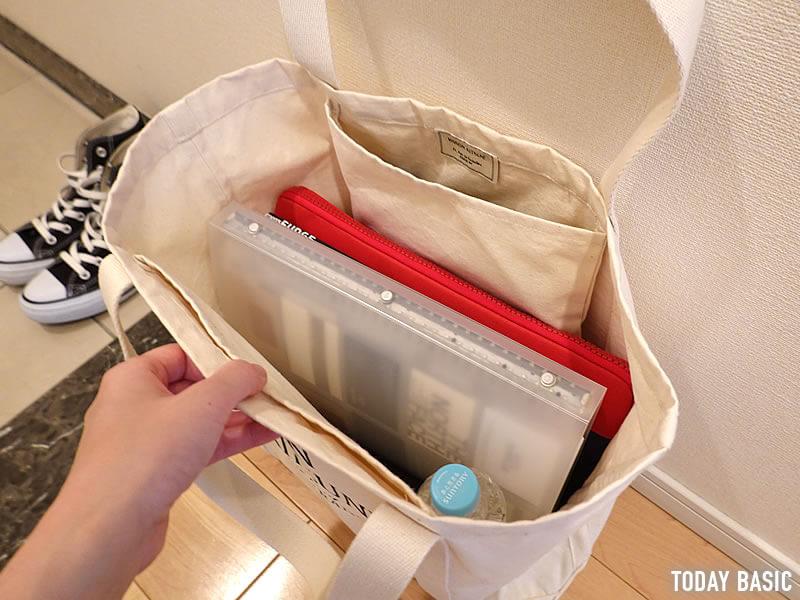 メゾンキツネの大容量トートバッグのブログ画像