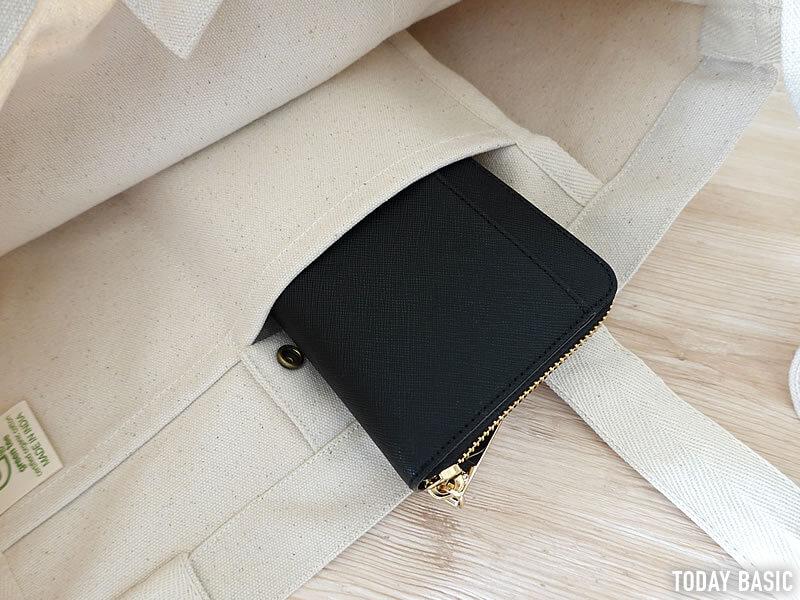 ノースフェイスのユーティリティートートバッグに長財布を収納する