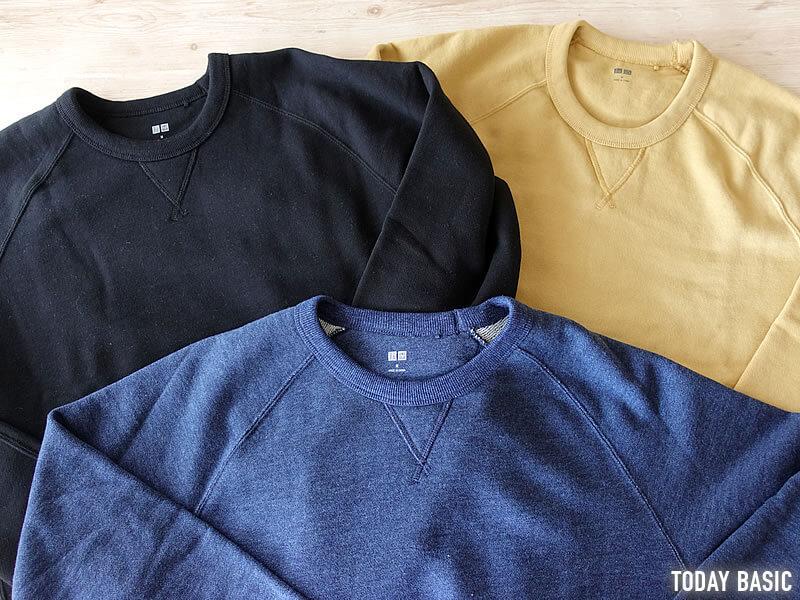 おしゃれなメンズトレーナー・スウェットシャツの人気ブランド・ユニクロの画像