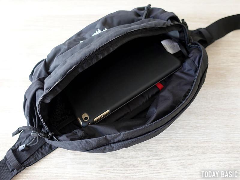 ザノースフェイスのウエストバッグ・スピナにiPad mini4を収納