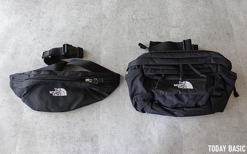 ザノースフェイスのウエストバッグ・スピナとグラニュール写真