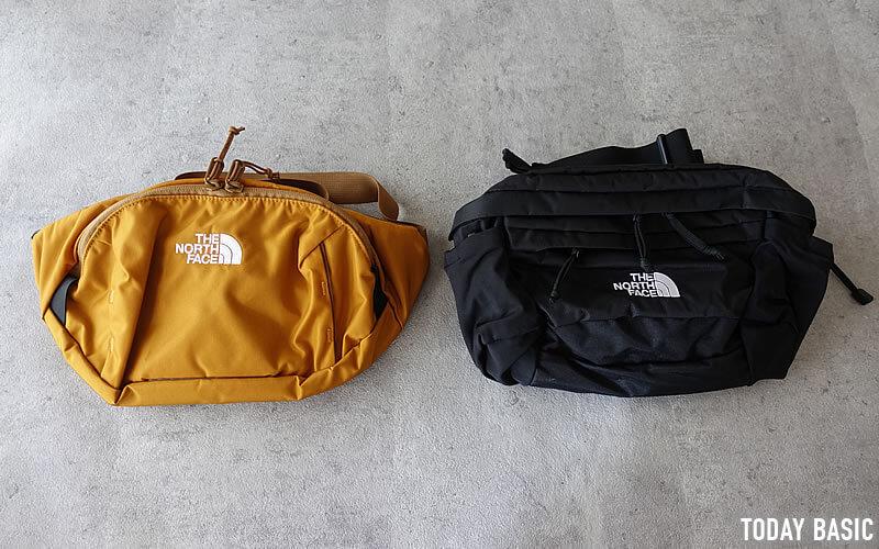ザノースフェイスのウエストバッグ・スピナとオリオン写真