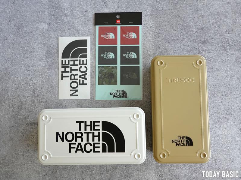 ザノースフェイスのステッカーをツールボックス・工具箱に貼った画像