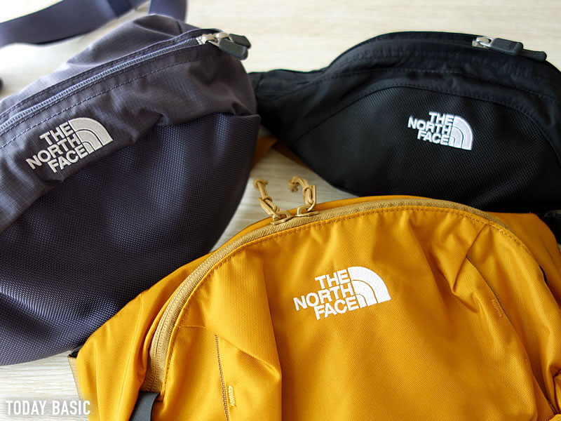 ザノースフェイスのウエストポーチ・バッグのロゴ刺繍