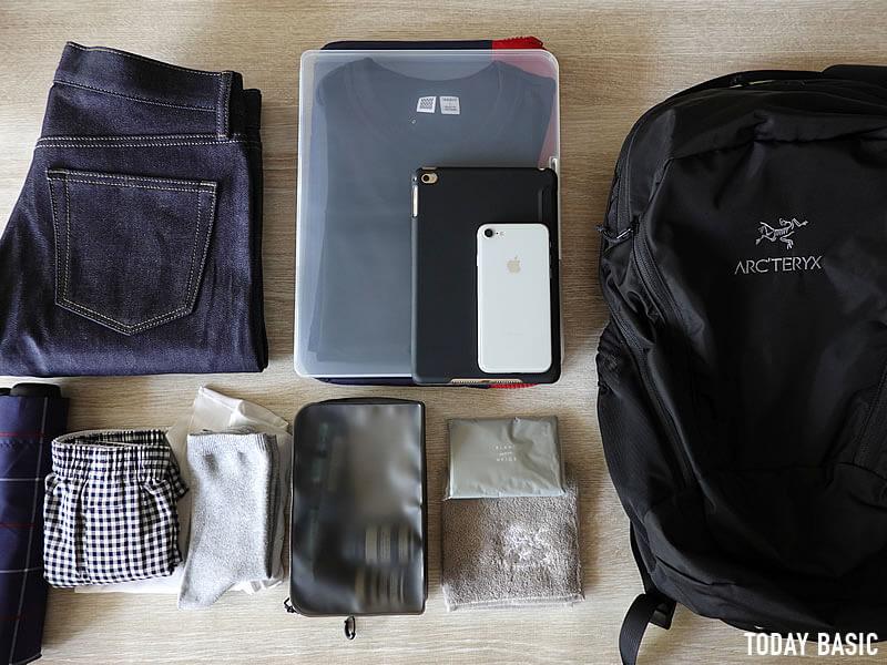 アークテリクスのマンティス26Lを旅行・宿泊用バッグとして使用する