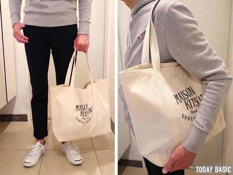 キャンバストートバッグのおすすめブランド「メゾンキツネ」の画像