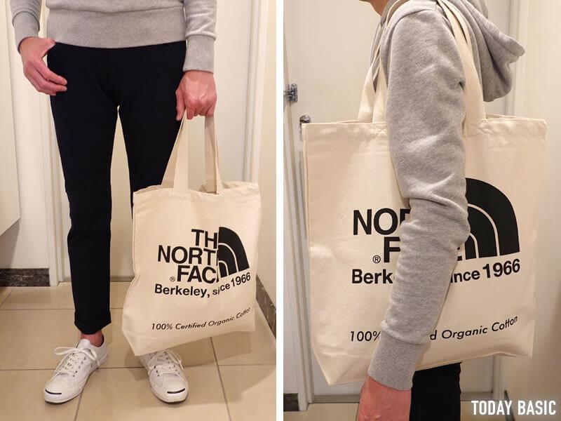 キャンバストートバッグのおすすめブランド「ノースフェイス・TNFオーガニックコットントート」の画像
