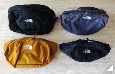 ノースフェイスの人気ウエストバッグ4種類の比較の画像