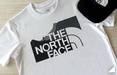 ノースフェイスのTシャツの画像