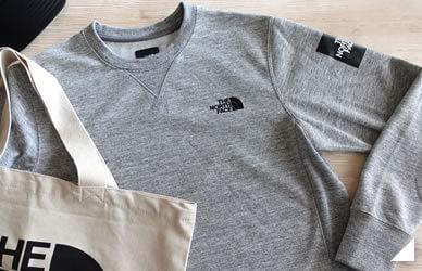 ノースフェイスのスウェットシャツの画像